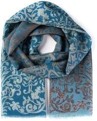 Bufanda estampada azul de Canali