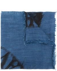 Bufanda estampada azul de Diesel