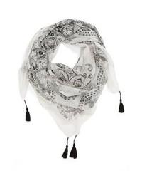 Bufanda estampada blanca