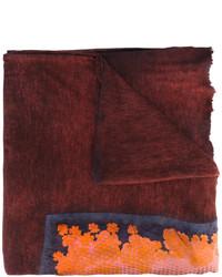 Bufanda estampada burdeos de Avant Toi