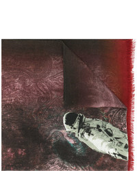Bufanda estampada burdeos de Etro