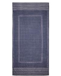Bufanda estampada en azul marino y blanco de Etoile Isabel Marant