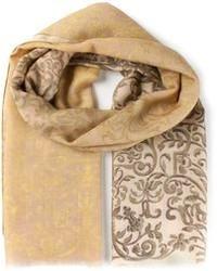 Bufanda estampada en beige de Canali