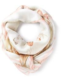 Bufanda estampada en beige de Salvatore Ferragamo