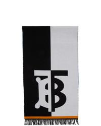 Bufanda estampada en blanco y negro de Burberry