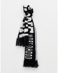 Bufanda estampada en blanco y negro de ONLY & SONS