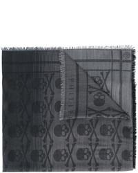 Bufanda estampada en gris oscuro de Philipp Plein