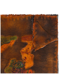 Bufanda estampada en marrón oscuro de Avant Toi