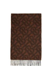 Bufanda estampada en marrón oscuro de Burberry