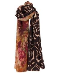 Bufanda estampada en marrón oscuro de Pierre Louis Mascia