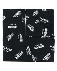 Bufanda estampada en negro y blanco de Moschino