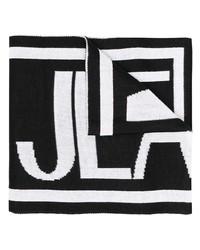 Bufanda estampada en negro y blanco de VERSACE JEANS COUTURE