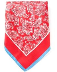 Bufanda estampada en rojo y blanco