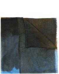 Bufanda estampada en verde azulado de Stella McCartney
