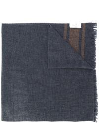 Bufanda Estampada Gris Oscuro de Brunello Cucinelli