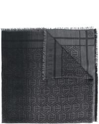 Bufanda Estampada Gris Oscuro de Philipp Plein