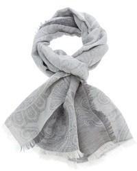 Bufanda estampada gris de Brioni