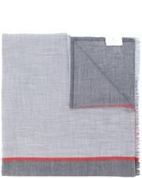 Bufanda estampada gris de Brunello Cucinelli