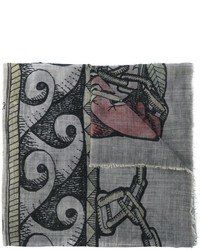 Bufanda estampada gris de Faliero Sarti