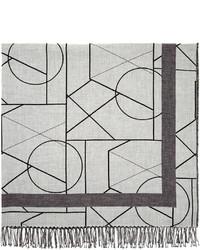 Bufanda estampada gris de McQ