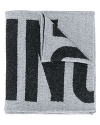 Bufanda estampada gris de Moschino