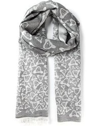 Bufanda estampada gris de Paul Smith