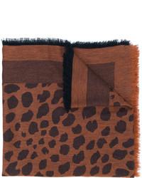 Bufanda estampada marrón de Paul Smith