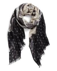 Bufanda estampada negra