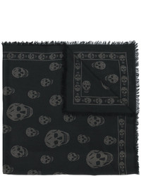 Bufanda estampada negra de Alexander McQueen