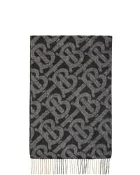 Bufanda estampada negra de Burberry