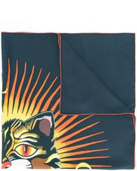 Bufanda estampada negra de Gucci