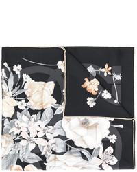 Bufanda estampada negra de Salvatore Ferragamo
