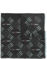 Bufanda estampada negra de Valentino