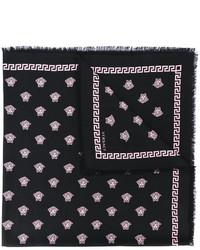 Bufanda estampada negra de Versace