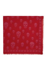 Bufanda estampada roja de Alexander McQueen
