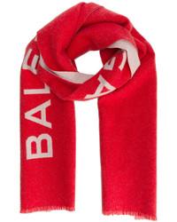 Bufanda estampada roja de Balenciaga