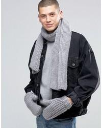 Bufanda gris de adidas