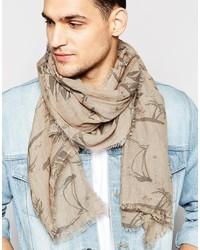 Bufanda ligera marrón claro de Esprit