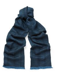 Bufanda tejida azul marino de Lanvin