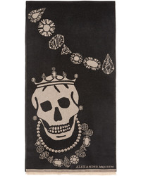 Bufanda tejida negra de Alexander McQueen