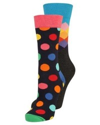 Calcetines a lunares azul marino de Happy Socks