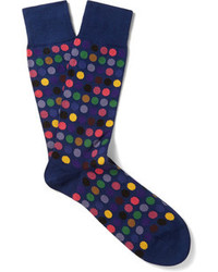 Calcetines a lunares azul marino de Paul Smith