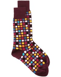 Calcetines a lunares burdeos de Paul Smith