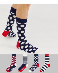 Calcetines a lunares en azul marino y blanco de Happy Socks