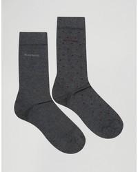 Calcetines a lunares en gris oscuro de Hugo Boss