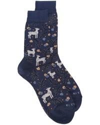Calcetines azul marino de Etro