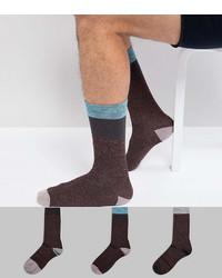 Calcetines burdeos de Asos