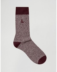 Calcetines burdeos de Jack Wills