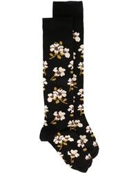 Calcetines con print de flores negros de Marni