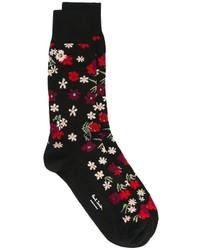 Calcetines con print de flores negros de Paul Smith